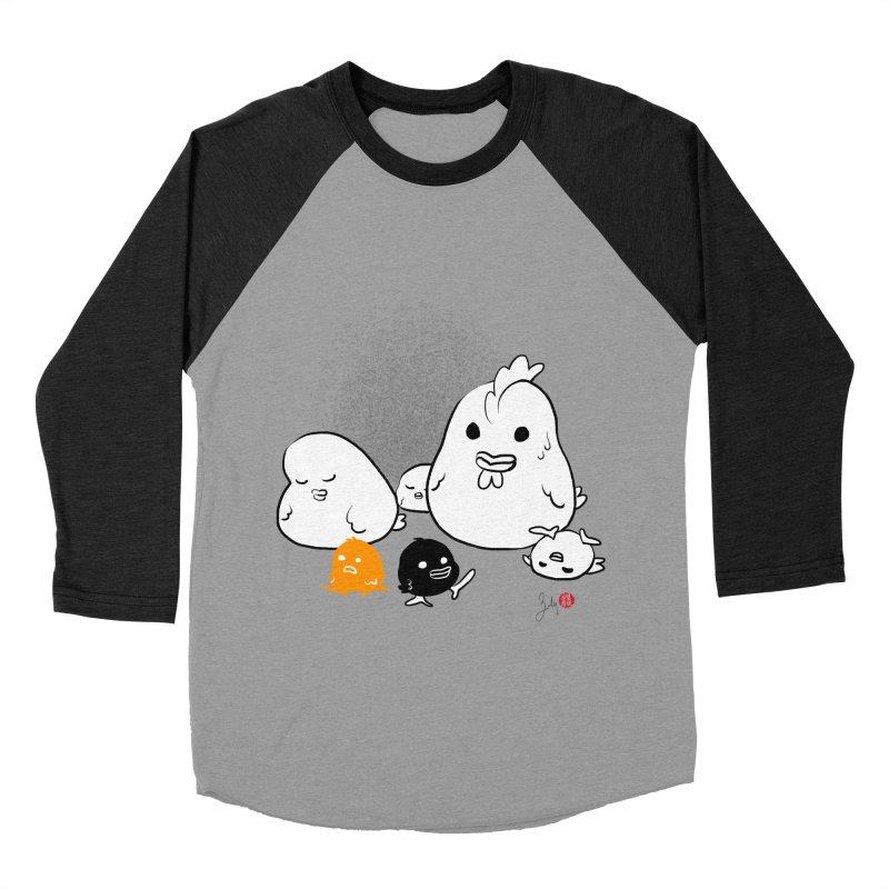 The Chicken Family Women's Baseball Triblend Longsleeve T-Shirt by Designs by Billy Wan