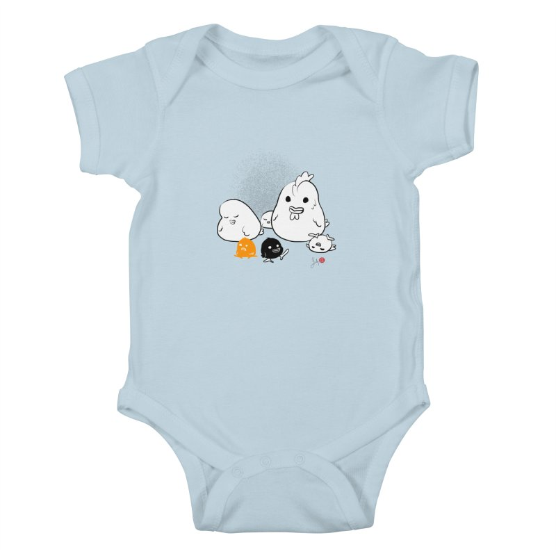The Chicken Family Kids Baby Bodysuit by Designs by Billy Wan
