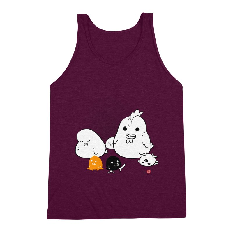 The Chicken Family Men's Triblend Tank by Designs by Billy Wan