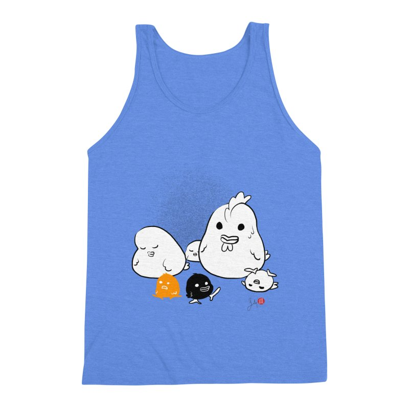 The Chicken Family Men's Tank by Designs by Billy Wan