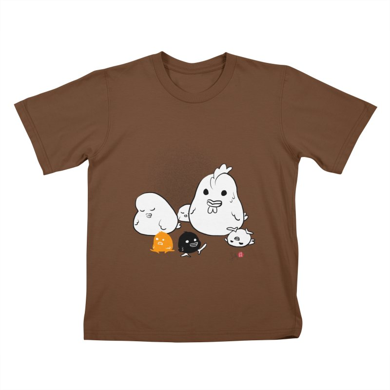 The Chicken Family Kids T-Shirt by Designs by Billy Wan