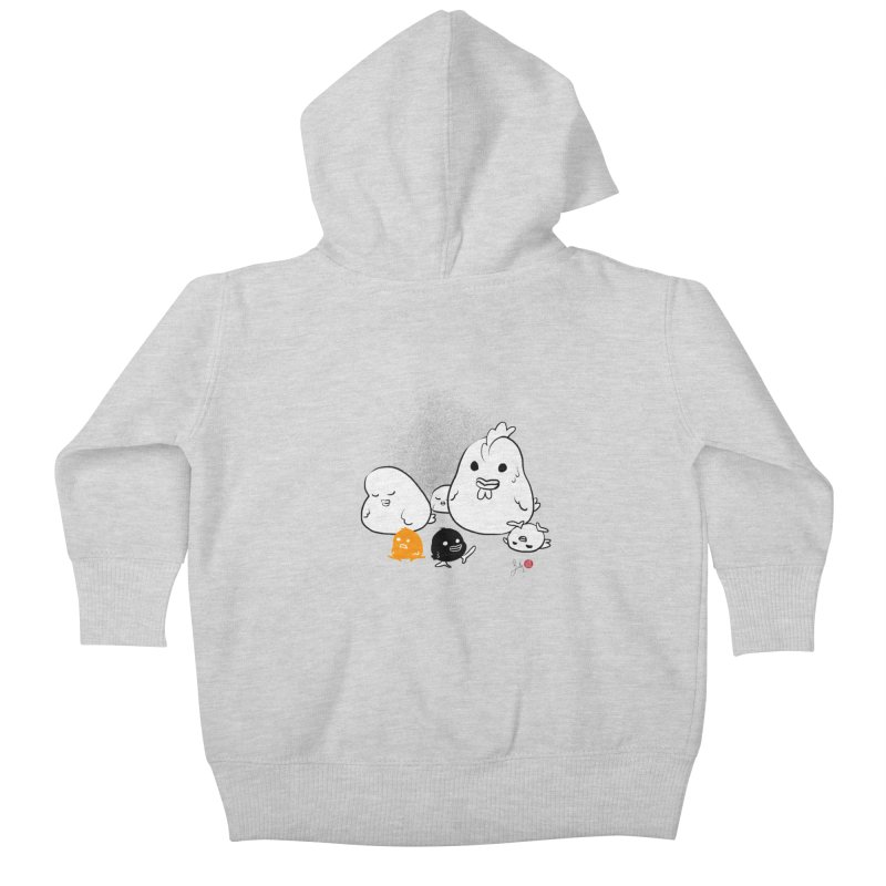 The Chicken Family Kids Baby Zip-Up Hoody by Designs by Billy Wan