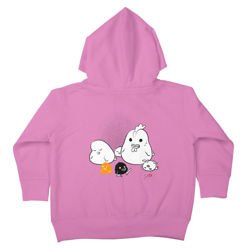 The Chicken Family Kids Toddler Zip-Up Hoody by Designs by Billy Wan