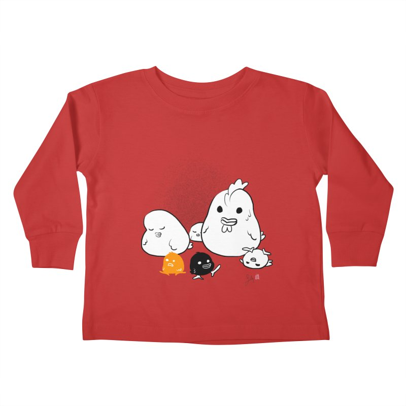 The Chicken Family Kids Toddler Longsleeve T-Shirt by Designs by Billy Wan