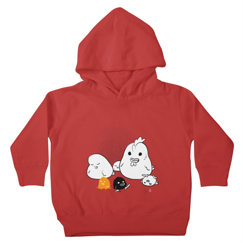 The Chicken Family Kids Toddler Pullover Hoody by Designs by Billy Wan