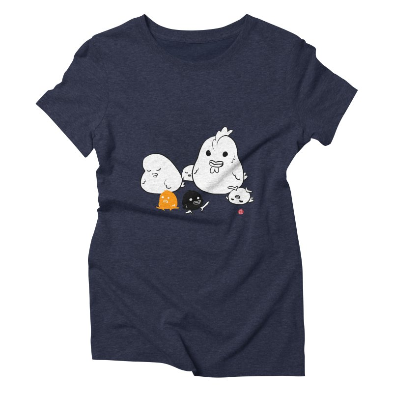 The Chicken Family Women's Triblend T-Shirt by Designs by Billy Wan