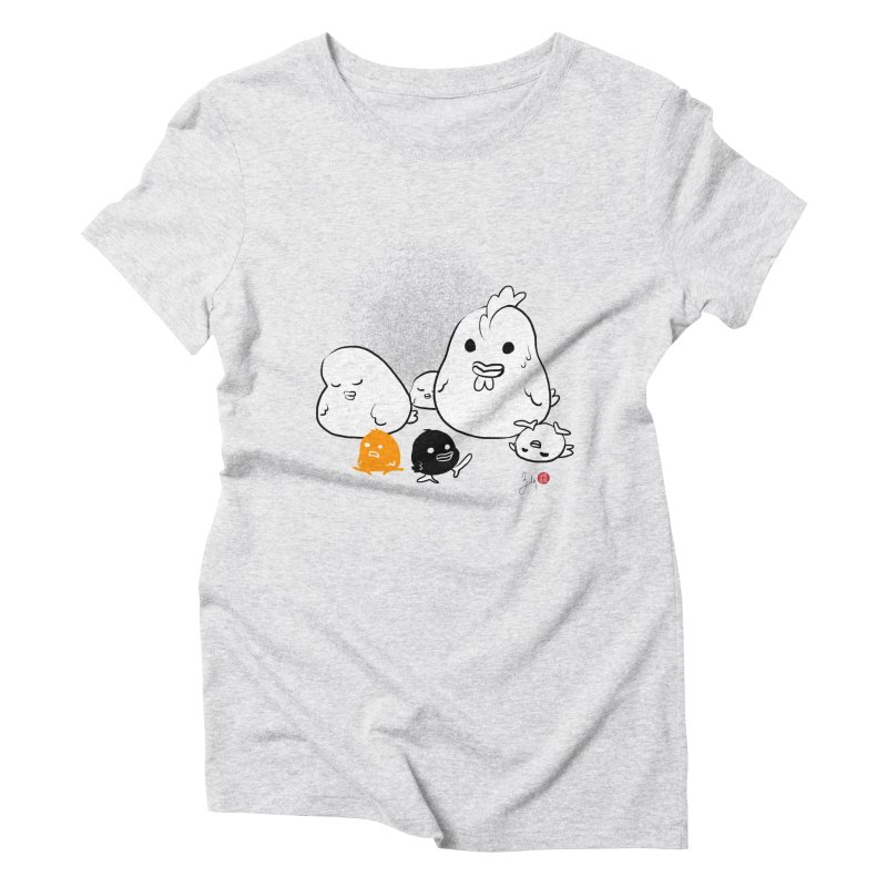 The Chicken Family Women's T-Shirt by Designs by Billy Wan