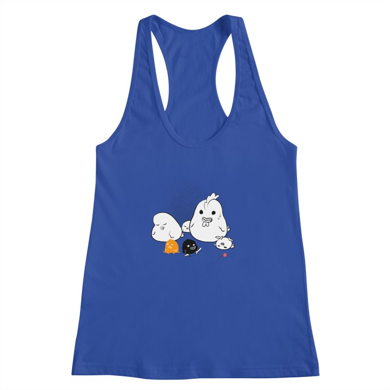 The Chicken Family Women's Racerback Tank by Designs by Billy Wan