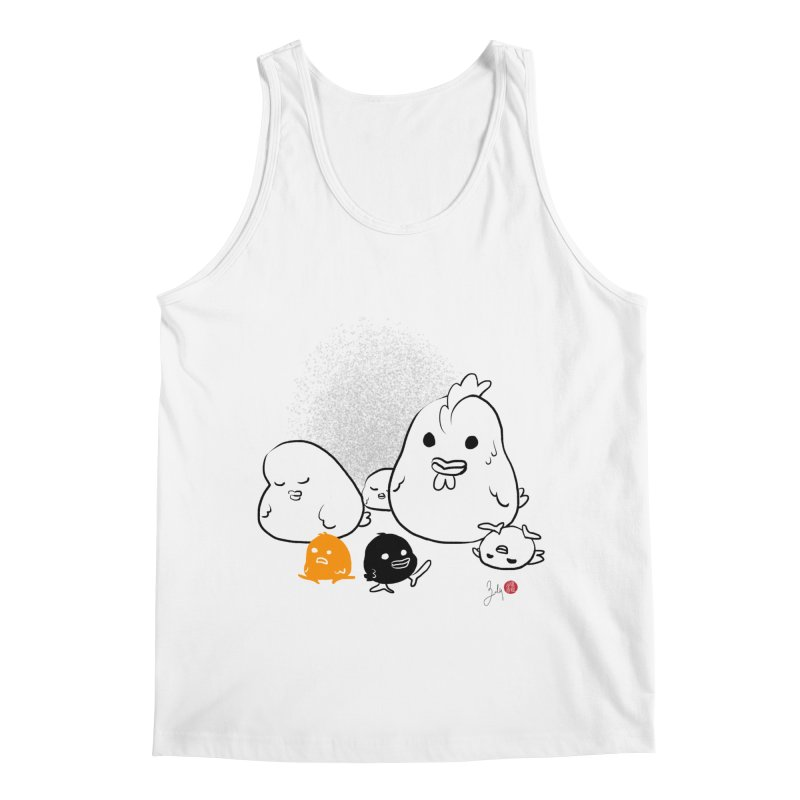 The Chicken Family Men's Regular Tank by Designs by Billy Wan