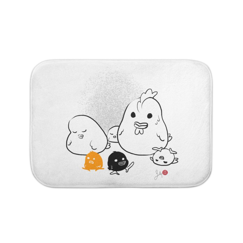 The Chicken Family Home Bath Mat by Designs by Billy Wan