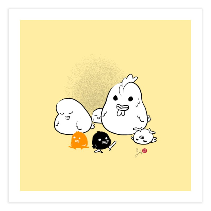 The Chicken Family Home Fine Art Print by Designs by Billy Wan