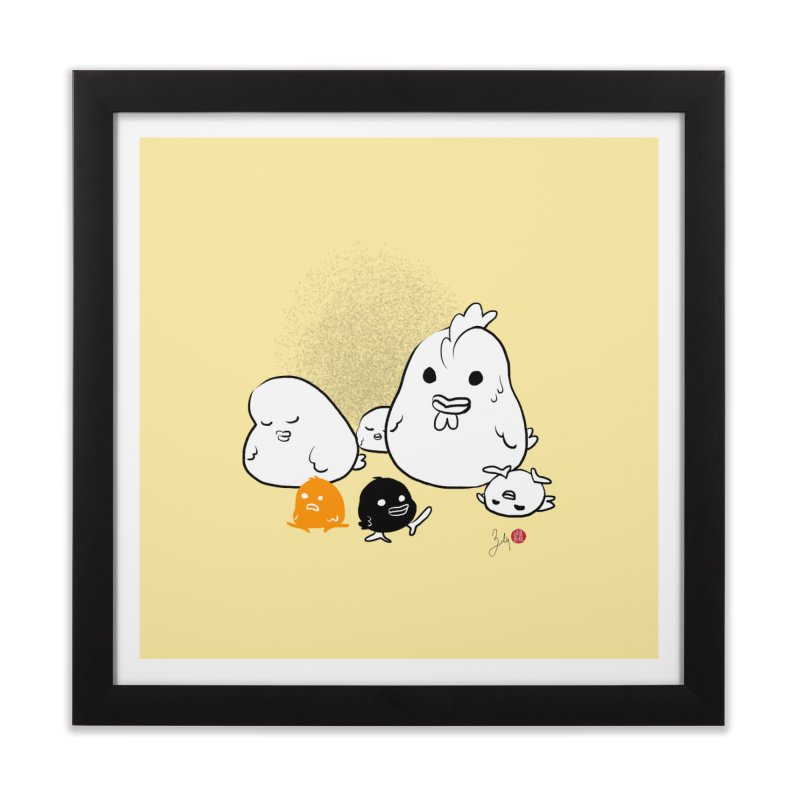 The Chicken Family Home Framed Fine Art Print by Designs by Billy Wan