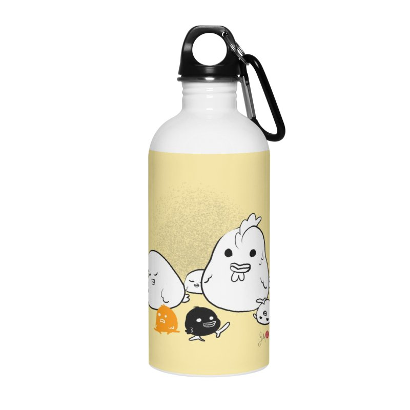 The Chicken Family Accessories Water Bottle by Designs by Billy Wan