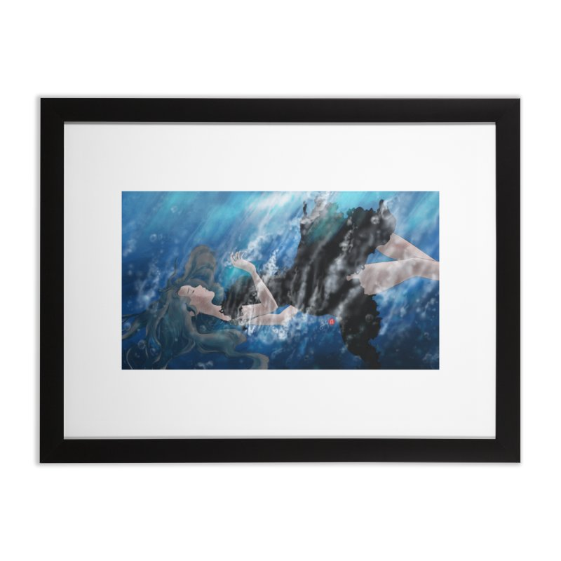 Underwater Home Framed Fine Art Print by Designs by Billy Wan