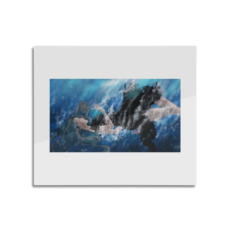 Underwater in Mounted Aluminum Print by Designs by Billy Wan