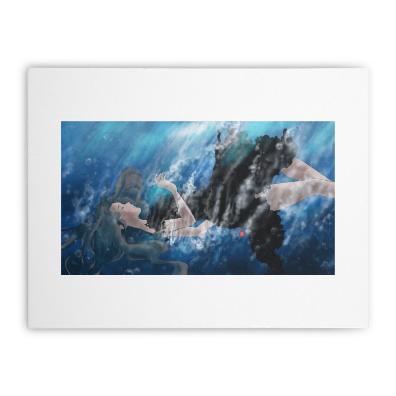 Underwater Home Stretched Canvas by Designs by Billy Wan
