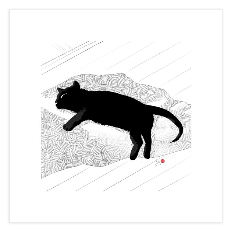 Lazy Cat in the Sun Home Fine Art Print by Designs by Billy Wan