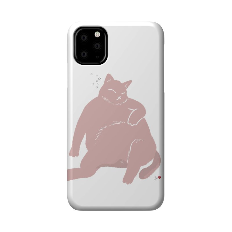 Fat Cat Accessories Phone Case by Designs by Billy Wan