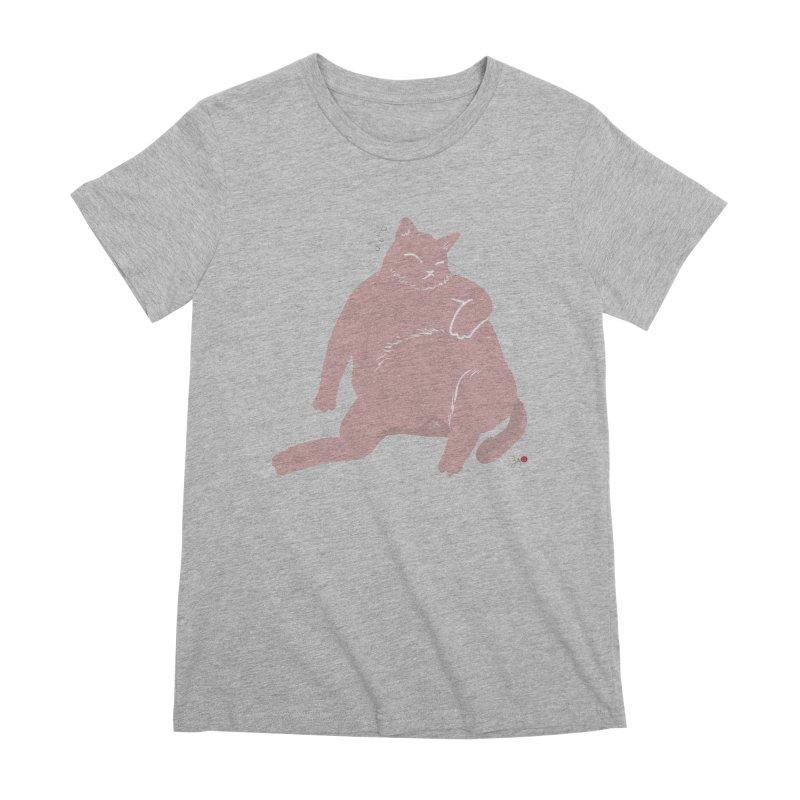 Fat Cat Women's Premium T-Shirt by Designs by Billy Wan