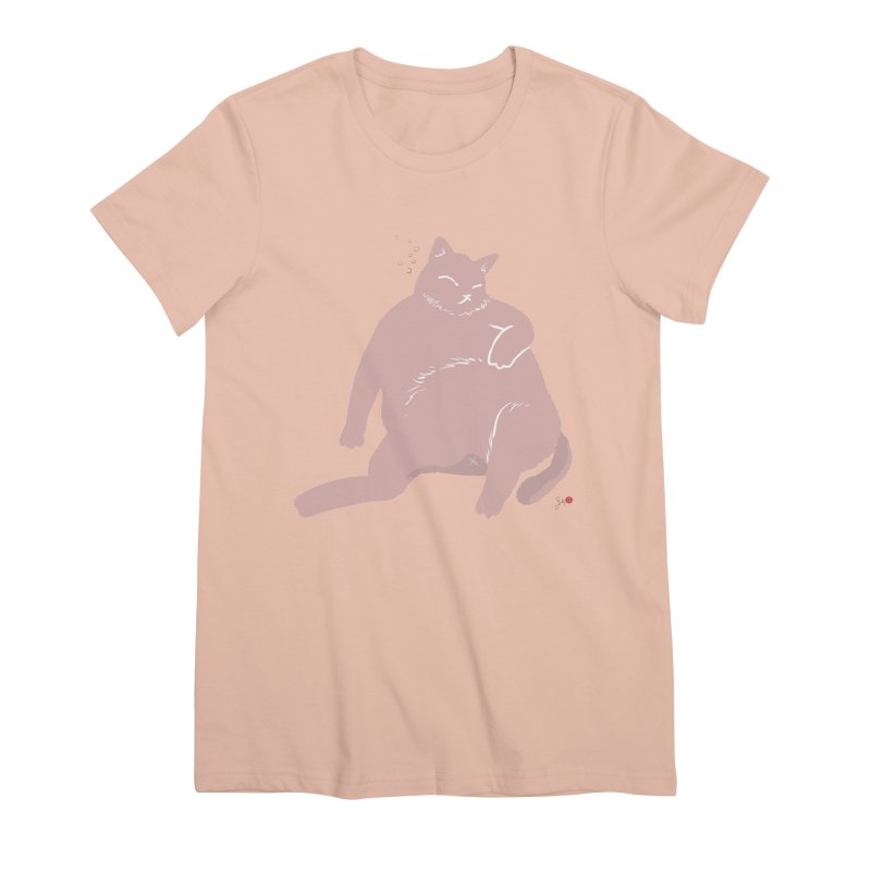 Fat Cat Women's Premium T-Shirt by Designs by Billy Wan