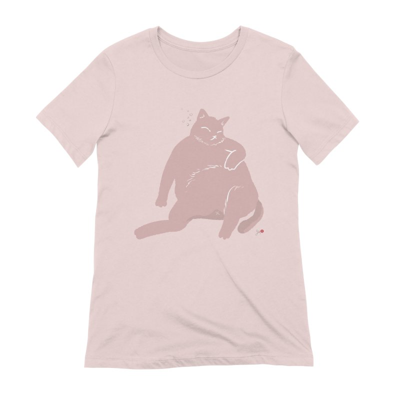 Fat Cat Women's Extra Soft T-Shirt by Designs by Billy Wan