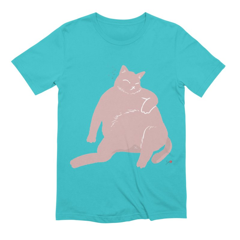 Fat Cat Men's Extra Soft T-Shirt by Designs by Billy Wan