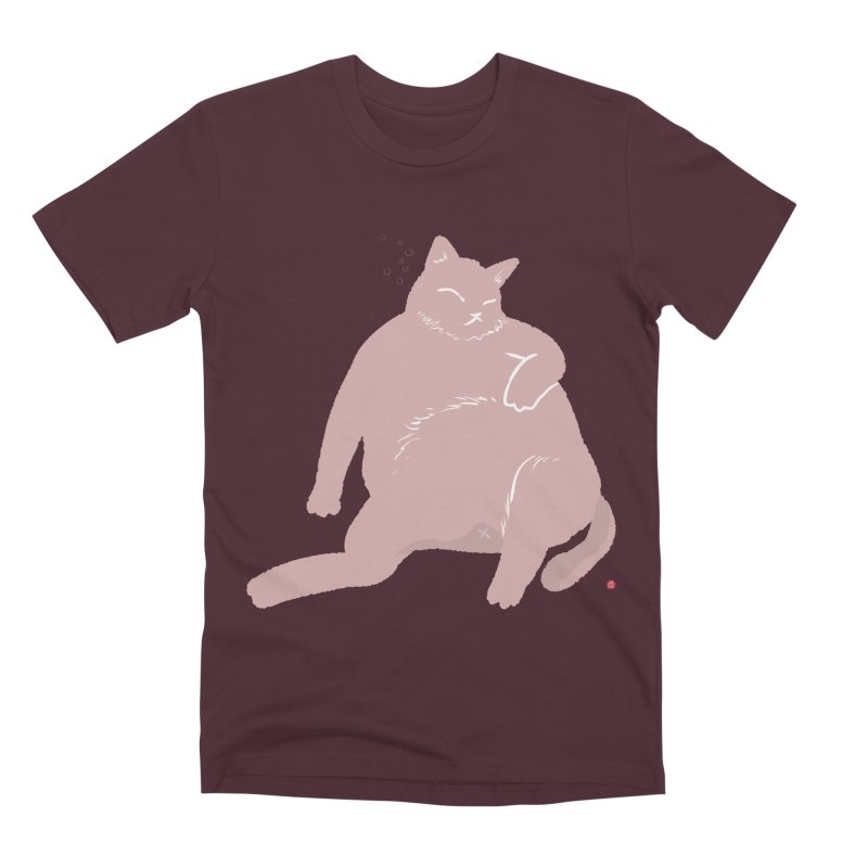 Fat Cat Men's Premium T-Shirt by Designs by Billy Wan