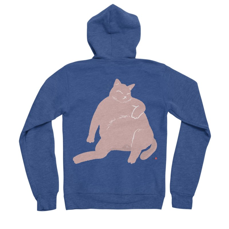 Fat Cat Women's Sponge Fleece Zip-Up Hoody by Designs by Billy Wan