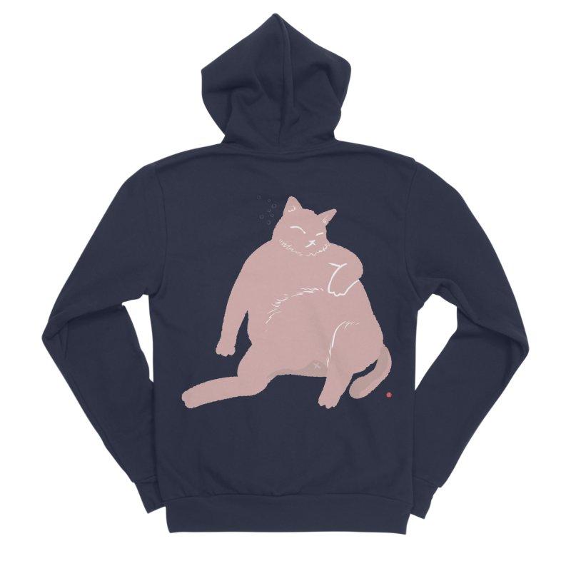 Fat Cat Men's Sponge Fleece Zip-Up Hoody by Designs by Billy Wan