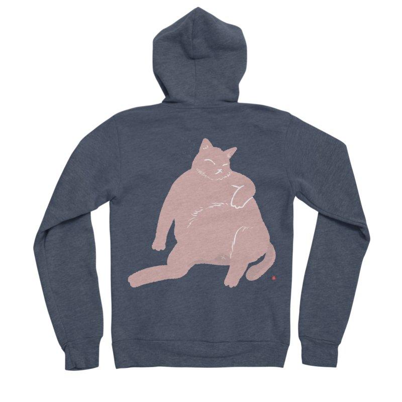 Fat Cat Women's Sponge Fleece Zip-Up Hoody by Designs by Billy Wan