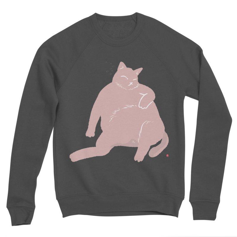 Fat Cat Men's Sponge Fleece Sweatshirt by Designs by Billy Wan
