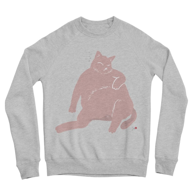 Fat Cat Men's Sponge Fleece Sweatshirt by Designs by Billy Wan