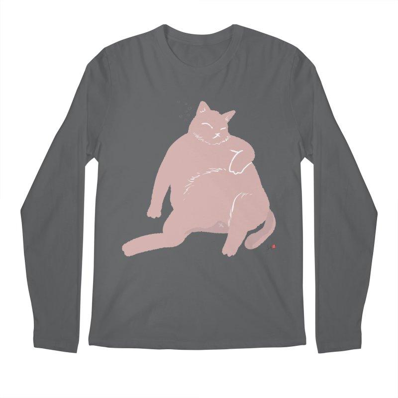 Fat Cat Men's Longsleeve T-Shirt by Designs by Billy Wan