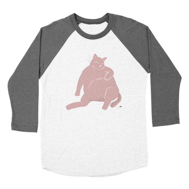 Fat Cat Women's Baseball Triblend Longsleeve T-Shirt by Designs by Billy Wan