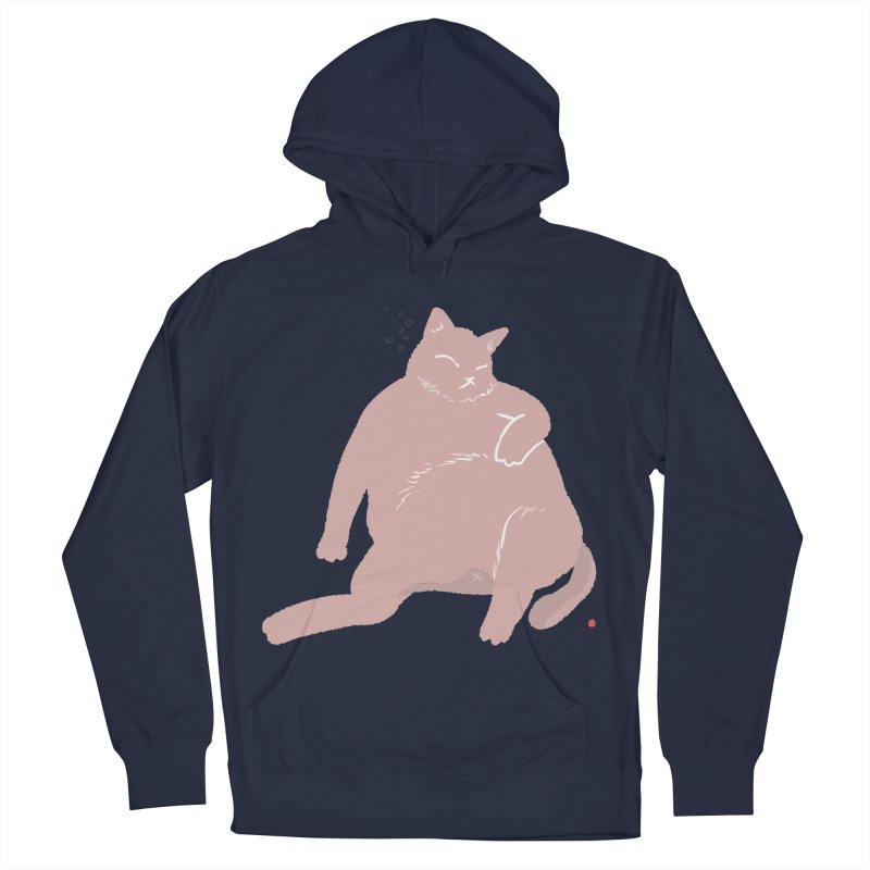 Fat Cat Women's French Terry Pullover Hoody by Designs by Billy Wan