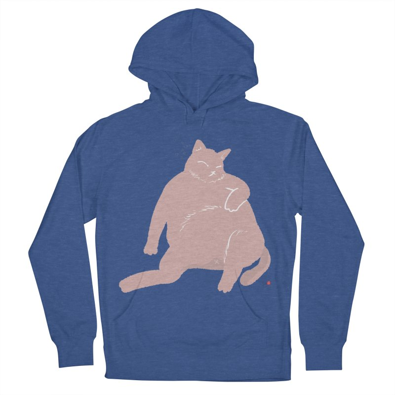 Fat Cat Men's French Terry Pullover Hoody by Designs by Billy Wan