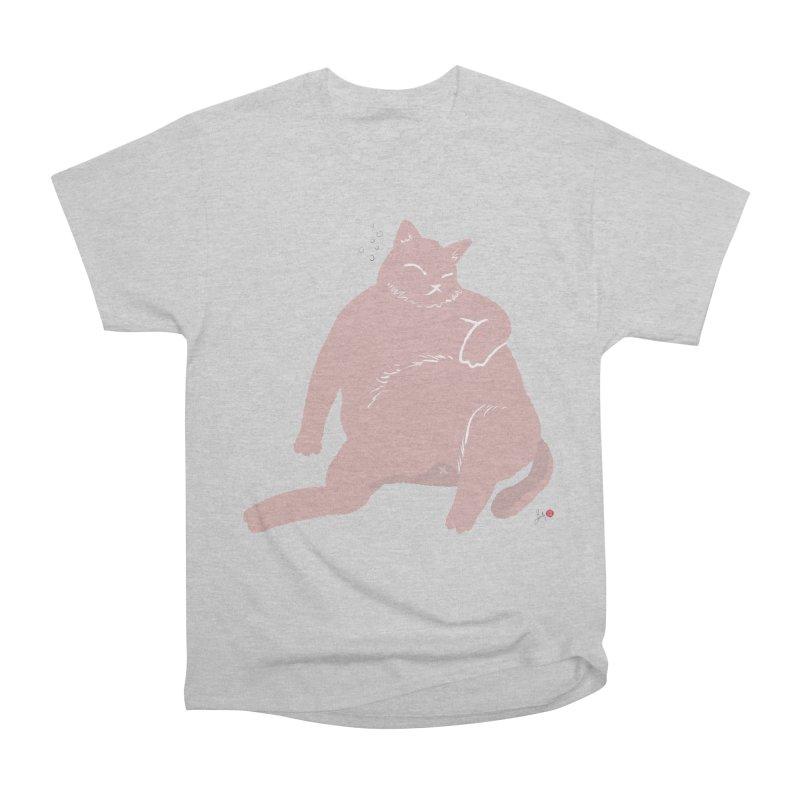 Fat Cat Men's Heavyweight T-Shirt by Designs by Billy Wan
