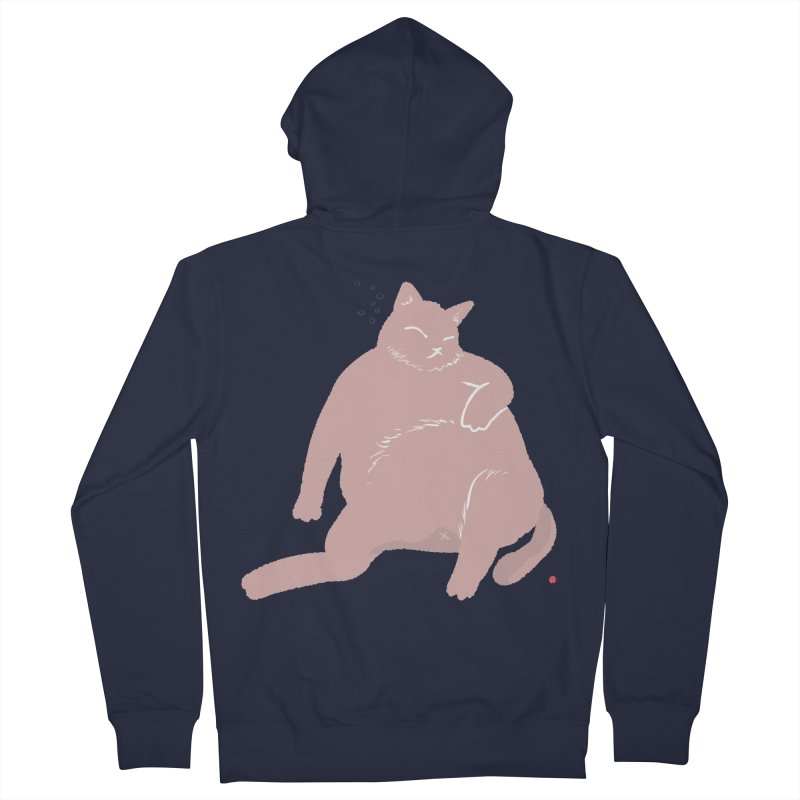 Fat Cat Women's French Terry Zip-Up Hoody by Designs by Billy Wan