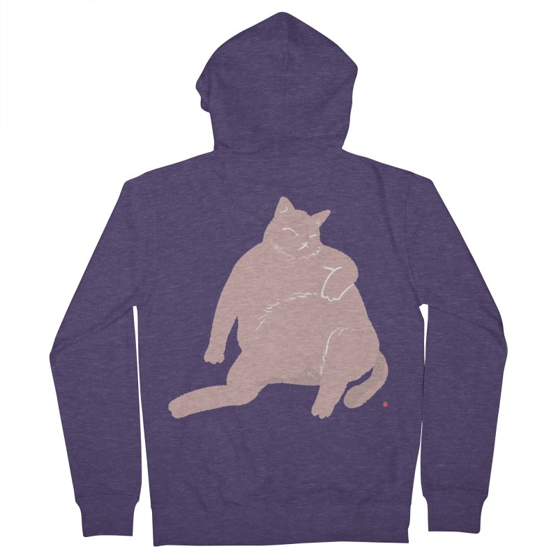 Fat Cat Men's French Terry Zip-Up Hoody by Designs by Billy Wan