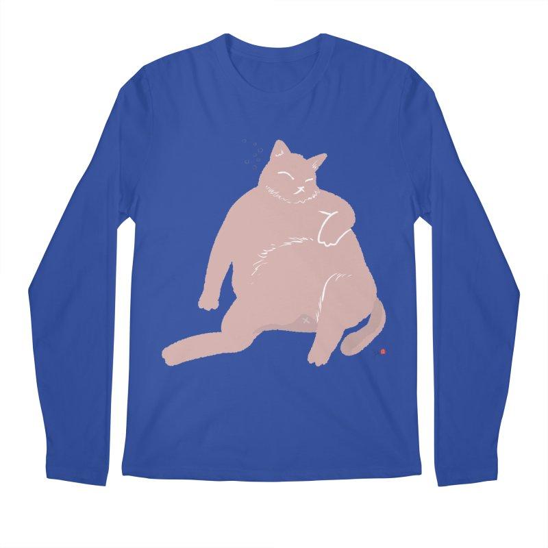 Fat Cat Men's Regular Longsleeve T-Shirt by Designs by Billy Wan