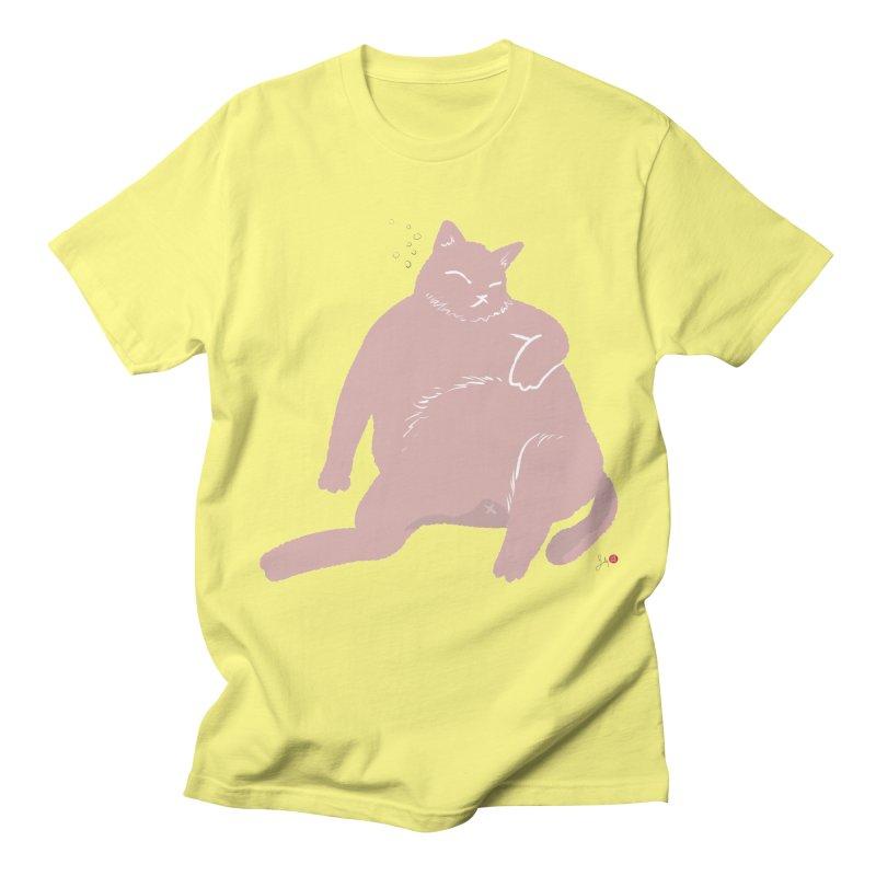 Fat Cat Men's Regular T-Shirt by Designs by Billy Wan