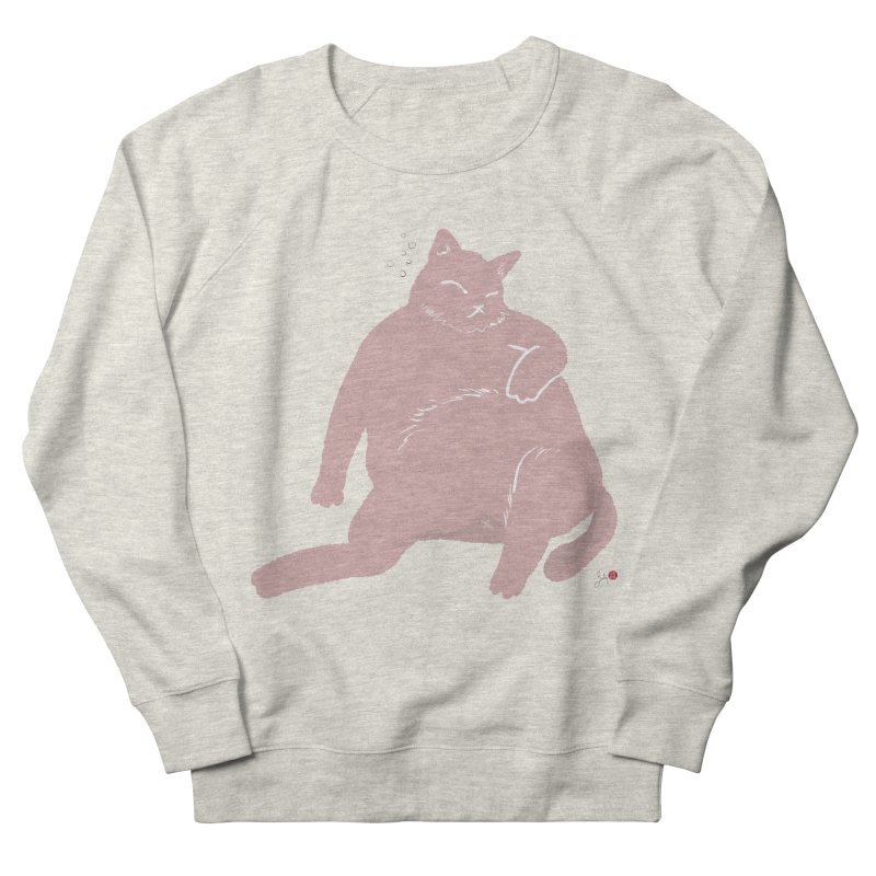 Fat Cat Women's French Terry Sweatshirt by Designs by Billy Wan