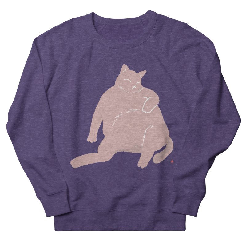 Fat Cat Men's French Terry Sweatshirt by Designs by Billy Wan
