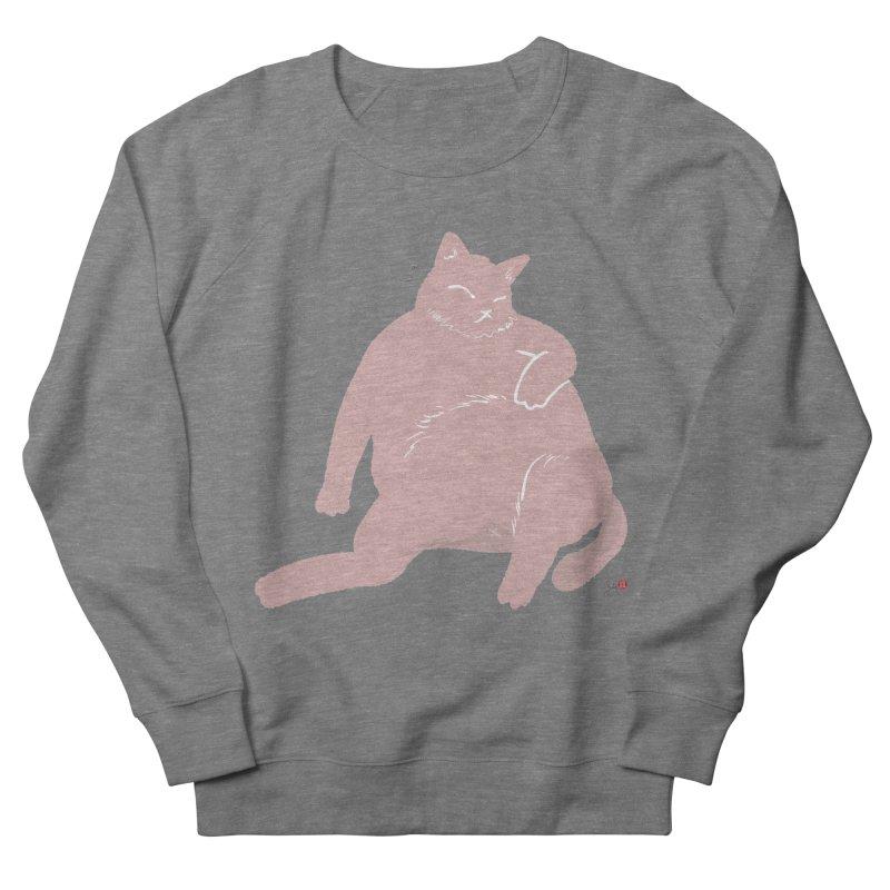 Fat Cat Men's French Terry Sweatshirt by Designs by Billy Wan