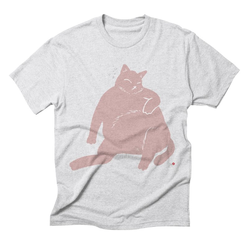 Fat Cat Men's Triblend T-Shirt by Designs by Billy Wan