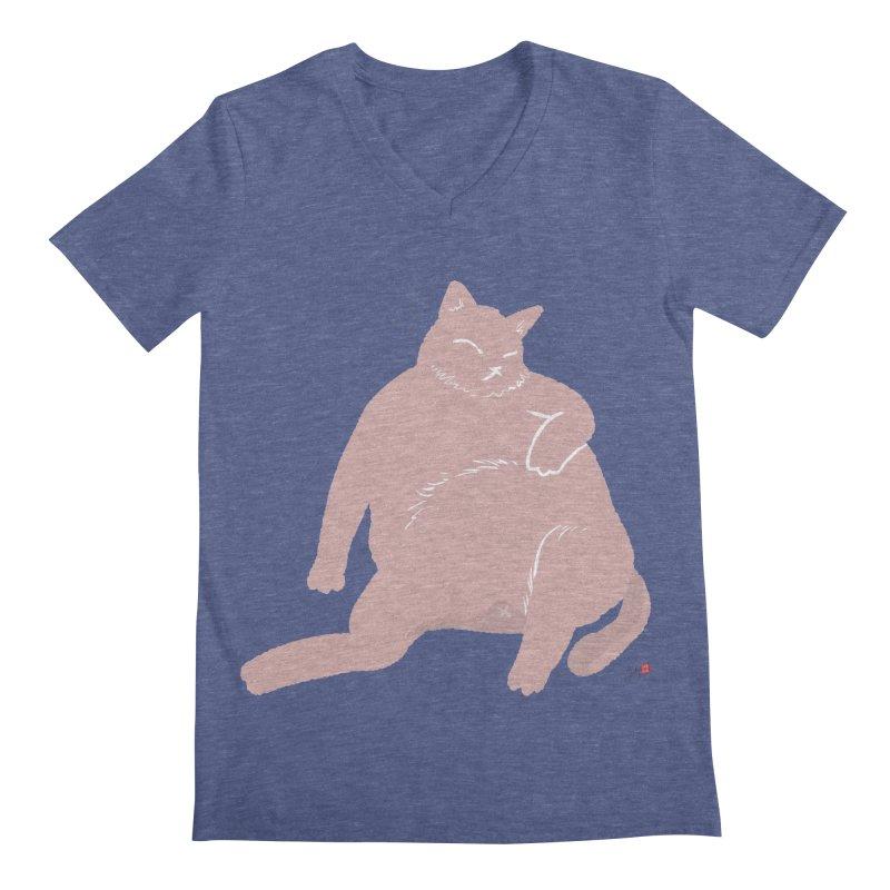 Fat Cat Men's Regular V-Neck by Designs by Billy Wan