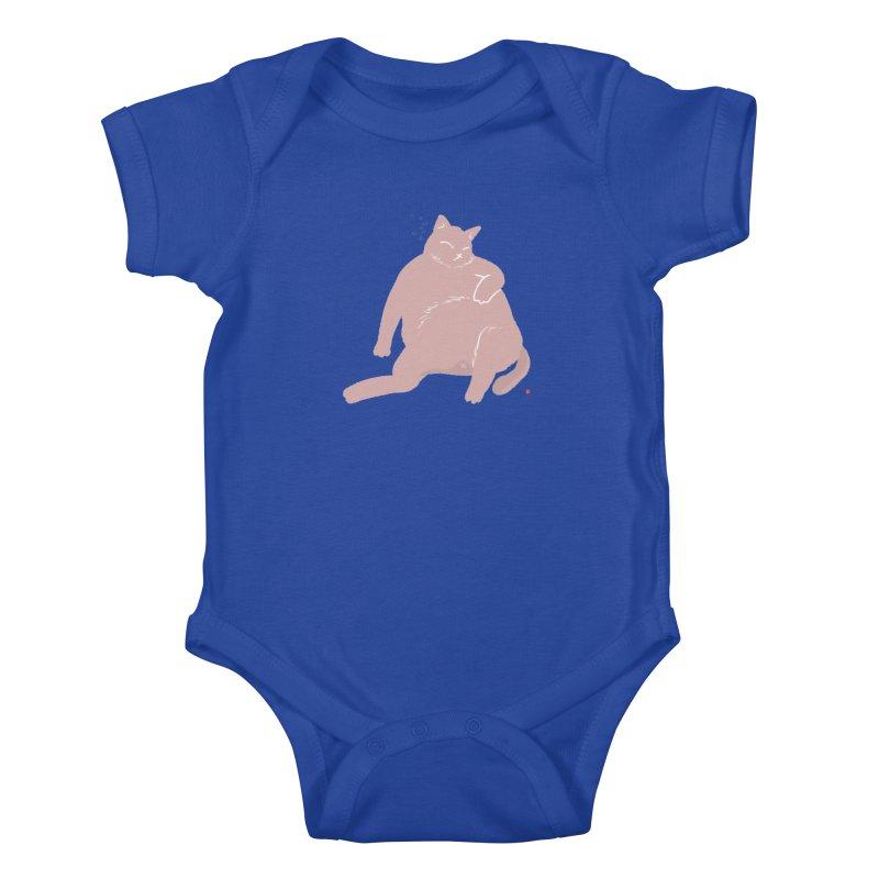 Fat Cat Kids Baby Bodysuit by Designs by Billy Wan