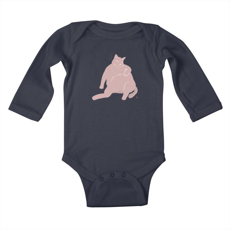 Fat Cat Kids Baby Longsleeve Bodysuit by Designs by Billy Wan