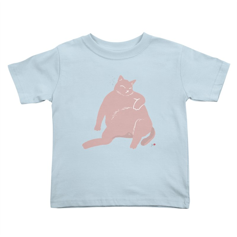 Fat Cat Kids Toddler T-Shirt by Designs by Billy Wan