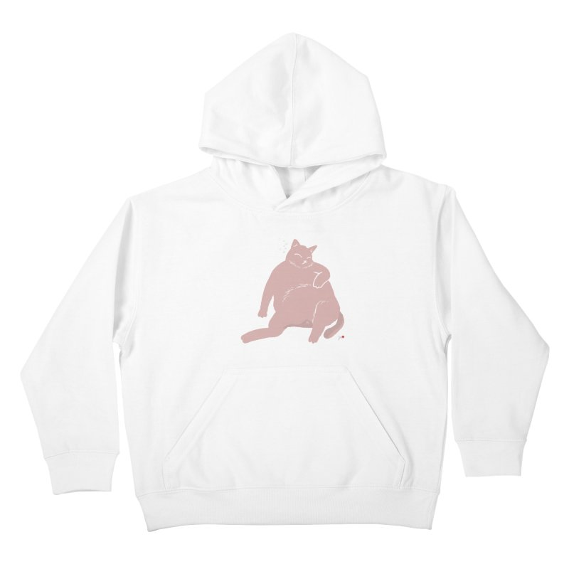 Fat Cat Kids Pullover Hoody by Designs by Billy Wan